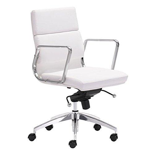 Zuo Modern Modern Bookcase - Zuo Modern Engineer Low Back Office Chair, White