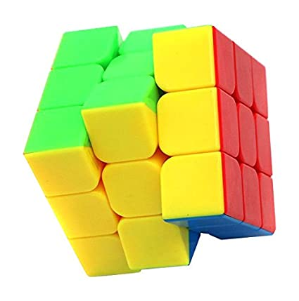 Little Treasures Cube 3 x 3 Puzzle Stickerless 3 Layer Speed Cube, Vivid Color