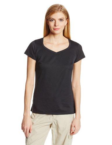 Columbia Women's Innisfree Short Sleeve Shirt, Black, Small