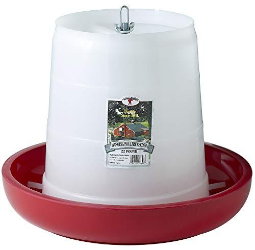(Miller Manufacturing PHF22 22-Pound Plastic Hanging Feeder, Red)