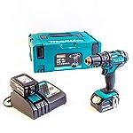Makita, DHP482RTJ, trapano avvitatore a percussione + 2batterie 18V, 5Ah Li-Ion + contenitore Makpac, colore: blu 419jhB8CUzL. SS150