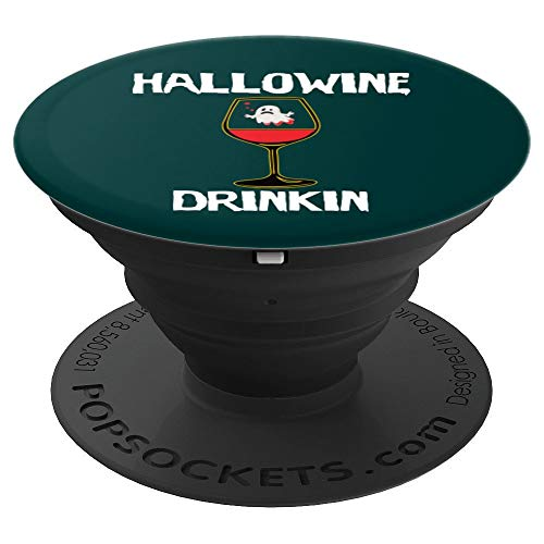 Wine Halloween Costume - Hallowine Drinkin PopSockets Grip and Stand for Phones and Tablets -