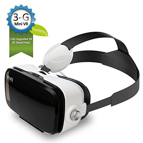 ETVR Upgraded Immersive 3D VR Headsets, More Lighter More Thinner Virtual Reality Glasses Fit For iPhone / Samsung Galaxy / LG/ HTC Smartphones Series