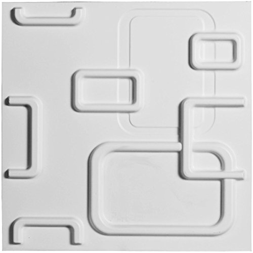 "Ekena Millwork WP12X12OSWH W x 11 7/8"" H Oslo EnduraWall Decorative 3D Wall Panel, White"