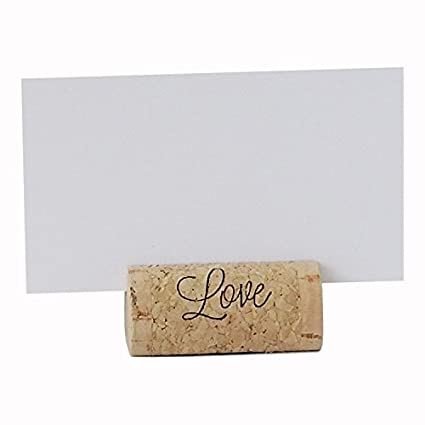 Amazon wine cork place card holders custom cork card holders wine cork place card holders custom cork card holders quotlovequot set of 25 junglespirit Image collections