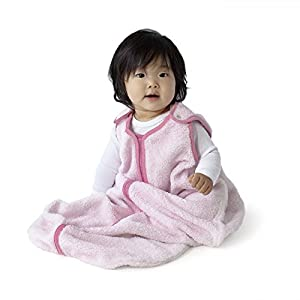 baby deedee Sleep Nest Teddy Baby Sleeping Bag, Pink, Small (0-6 Months)