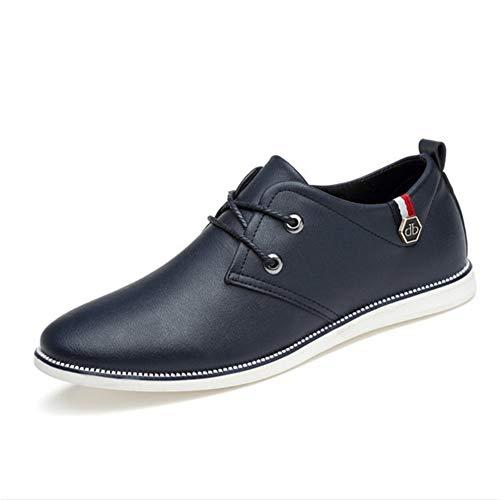 Hombres Moda Casuales tamaño Azul Color Derby Azul Cordones 43 Fuxitoggo Negocios Cordones EU con Negro para Zapatos con de Azul Amarillo T8YIq