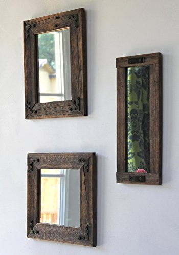 Rustic Mirror - Mirror Collage - Set of Three - Reclaimed Wood - Farmhouse - Decorative Mirrors - Rustic Home Decor - Wall Mirror by Hurd & Honey