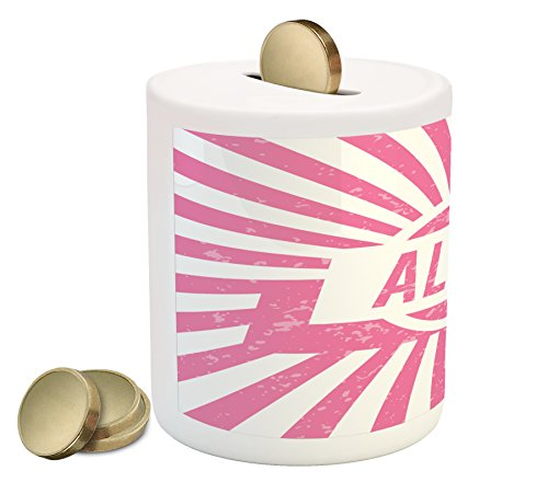 Cheap  Alice Coin Box Bank by Ambesonne, Grunge Looking Design for Girls Lettering..