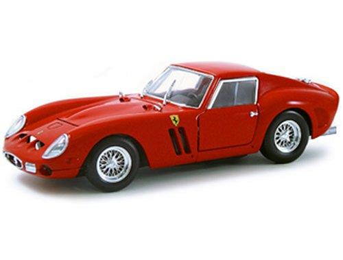 1962 Ferrari 250 GTO diecast model car 1:18 scale diecast by Hot Wheels - Red (1962 Ferrari 250 Gto)