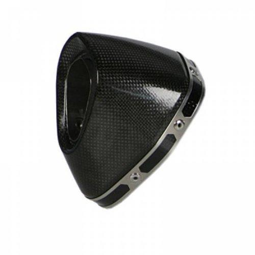 Cap End Muffler (Akrapovic Replacement Muffler End Cap Carbon Fiber for Ducati 848 1098/R/S 1198S)