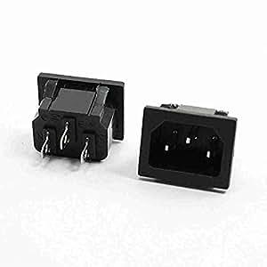 Movimiento y movimiento (TM) 2pcs Home tipo abrazadera de AC 250V 10A IEC 320C14Plug Power Inlet Socket
