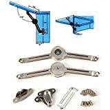 Lift Up Lid/Door Stay Struts Soft Down Close Mechanical Friction Brake Arm 2PCS