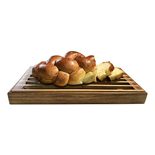 - Kalmar Home Three-in-One Tray, Trivet and Bread Crumb Catcher, Made of Beautiful Acacia Wood