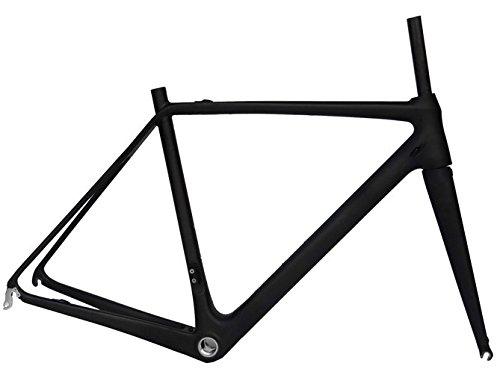 Flyxiiフルカーボンマットロードバイクフレームセット: 54 cm自転車フレームフォーク B01H29AMHC
