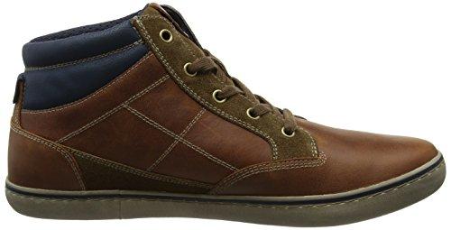 Geox Men's U Box C High Sneaker, Brown Brown (Browncotto/Brown C0235)