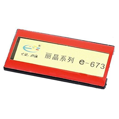 eDealMax Plastique horizontale Nom de l'entreprise Tag Clip Safetypin Porte-Rouge
