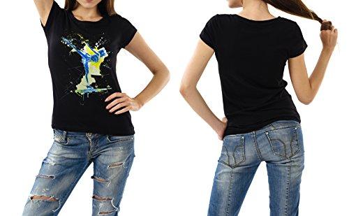 Eiskunstlauf_I schwarzes modernes Damen / Frauen T-Shirt mit stylischen Aufdruck