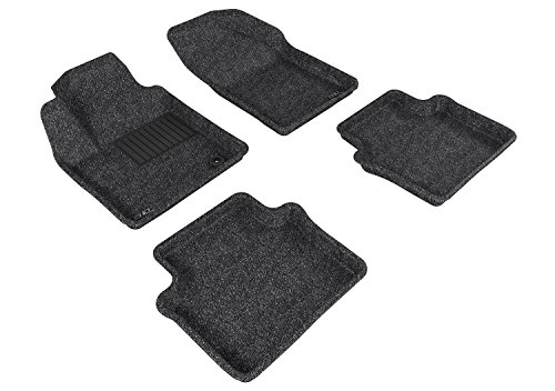 3D MAXpider Complete Set Custom Fit All-Weather Floor Mat for Select Chrysler Sebring Sedan Models - Classic Carpet  (Gray)