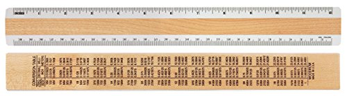 "Woodrow 12"" Inches and Metric 2 Bevel Wood Ruler"
