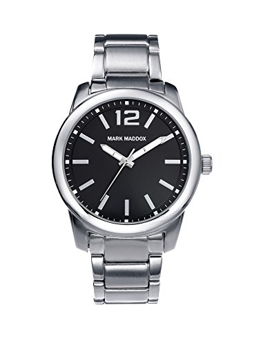 Mark Maddox HM6006-55 Mens Timeless Luxury Black and Silver Bracelet Watch
