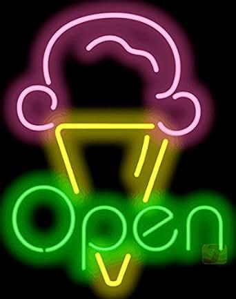 Ice Cream OPEN Neon Sign Amazon #0: 419jlS8PiRL SX342 QL70