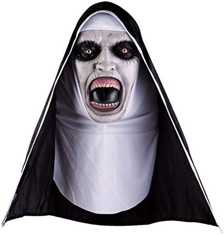 KISSION ハロウィーン修道女マスク ハロウィンマスク 修道女ホラーマスク コスプレ怖いラテックスマスク ハロウィーンパーテ