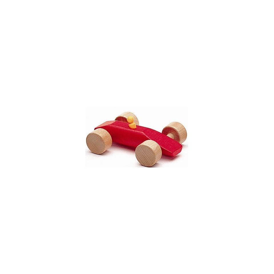 NIC Wooden Toys   Red Wooden Race Car Speedy