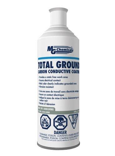 MG Chemicals Total Ground Carbon Conductive Coating, 340 g (12 Oz) Aerosol Can, Dark Grey (Salt Printing Chemicals)