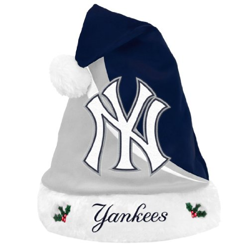 MLB New York Yankees Swoop Logo Santa Hat