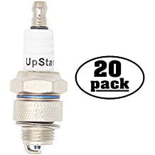 20-Pack Compatible Spark Plug for 2009 TGB Scooter RM50 - Compatible Champion L82YC & NGK BP6HS Spark Plugs