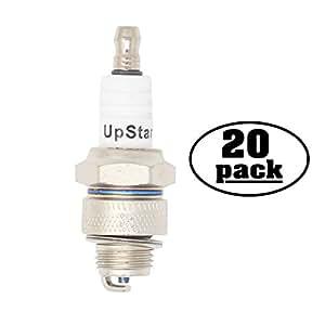 20-Pack Compatible Spark Plug for 1989-1990 YAMAHA CW50 ZUMA 50cc - Compatible Champion L82YC & NGK BP6HS Spark Plugs