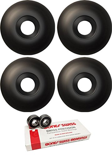 ピジン震え脈拍51 mm EssentialsスケートボードWheels with Bones Bearings – 8 mm Bones Swiss Skateboard Bearings – 2アイテムのバンドル