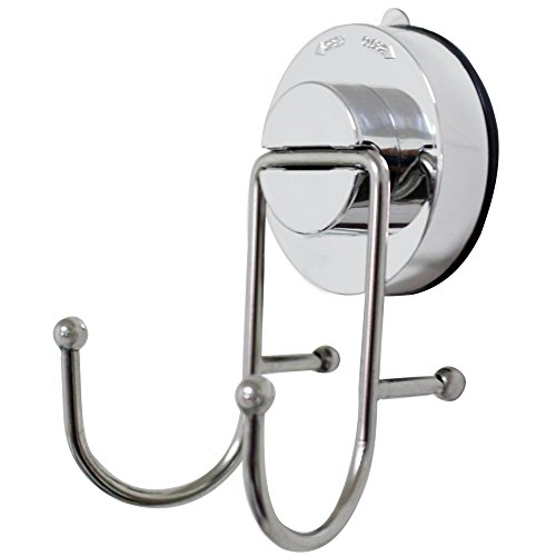 CoZroom Super Powerful Vacuum Suction Cup Hook Holder - Stainless Steel Hook for Bathroom & Kitchen