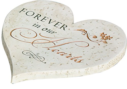 (Forever in Our Hearts 9.75 Inch Cement Round Memorial Garden Stepping Stone)