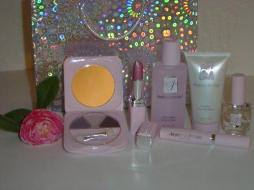 Cosmetique-Arabella-Stuart-6-piece-Make-up-Gift-Set-for-Women-Arabella-Stuart-Petal-Soft-Trio-Eyeshadow-Royal-Damask-1-47-g-Arabella-Stuart-Polished-Lipcolor-Petticoat-Pink-11-4-gr-Arabella-Stuart-Ref