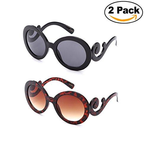 Newbee Fashion - Kyra Oversized Cateye Design Fashion Sunglasses for - Sun Design Glasses