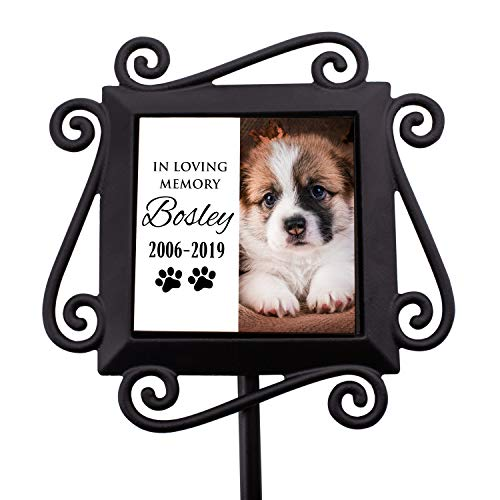Personalized Memorial Gifts Garden Stakes - Pet Memorial Gifts in Loving Memory of Custom Name & Photo- D2 ()