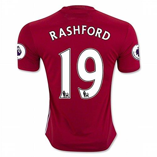 2016 17 Manchester United New Season 19 RASHFORD Home Soccer Jersey Red