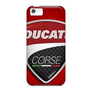 Protector Hard Phone Cover For Apple Iphone 5c (Ogk2798Fcuc) Unique Design High-definition Ducati Corse Logo Series