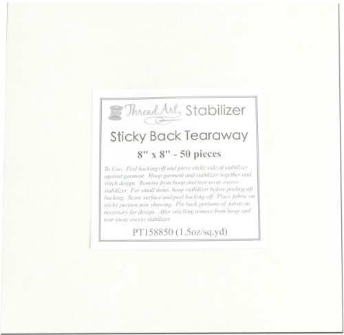 Threadart Sticky Back Tearaway Embroidery Stabilizer | 50 8