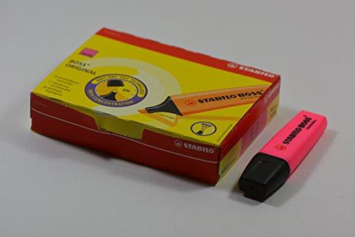 Stabilo BOSS Original Fluorescent Highlighter, 2mm + 5mm Tip - Pink