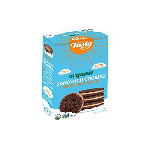 Tasty Brand Organic Sandwich Cookies, Peanut Butter Cup, 9.5 Ounce