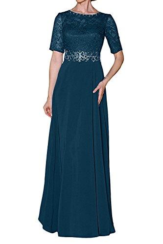 Dunkel Tuerkis Braut Partykleider Abendkleider mia Damen Festlichkleider Brautmutterkleider La Kleider Langes Chiffon Formal Elegant O75nwwUq