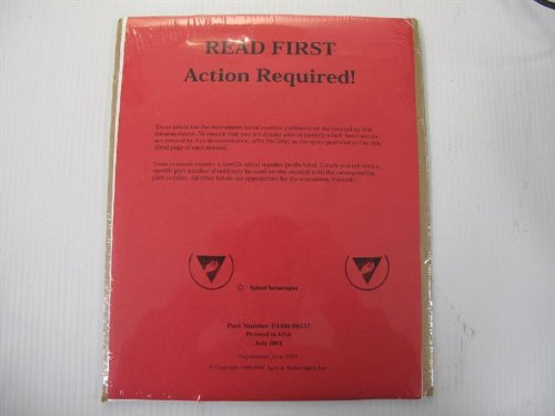 Agilent Technologies E4400-90332 Manual Up Date