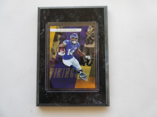 Absolute Black Marble - STEFON DIGGS MINNESOTA VIKINGS 2017 ABSOLUTE FOOTBALL PLAYER CARD MOUNTED ON A