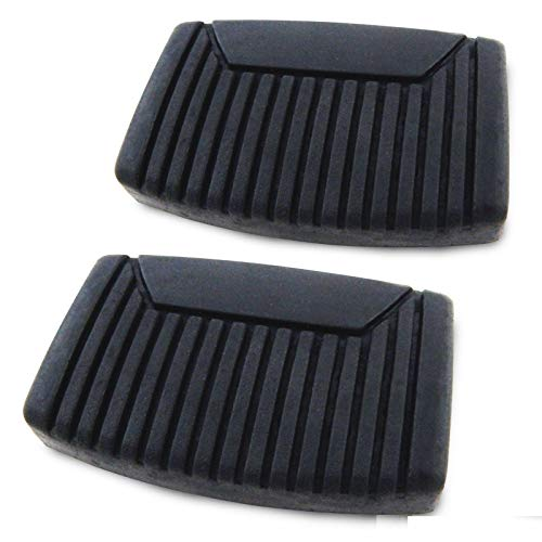 [Fengo] Two Premium Heavy Duty Brake Clutch Pedal Black Pads fit for Ford Bronco F150 F250 F350 F450 F550 (Either Clutch or Brake, for Manual Transmissions Only)