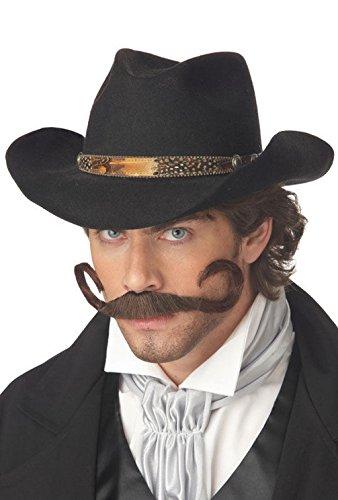 [Mememall Fashion The Gunslinger Moustache Costume Accessory Brown] (Deluxe Gunslinger Costume)