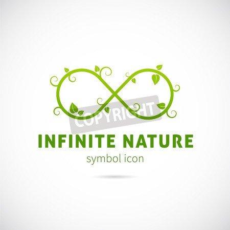 Infinite Nature Vector Concept Símbolo Icon or Logo Template ...