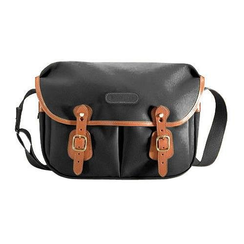 o Shoulder Bag (Black with Tan Leather Trim) (Billingham Photo)